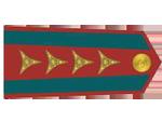 Výložky kapitána četnictva z let 1930-37.