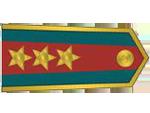 Výložky podplukovníka četnictva z let 1937-39.