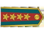 Výložky plukovníka četnictva z let 1937-39.