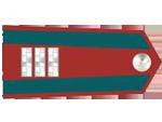 Výložky praporčíka četnictva z let 1930-37.