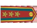 Výložky podplukovníka četnictva z let 1930-37.