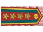 Výložky plukovníka četnictva z let 1930-37.
