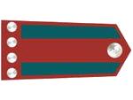 Výložky závodčího četnictva z let 1937-39.
